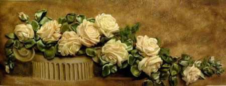 آموزش ساخت گل رز با روبان (1)