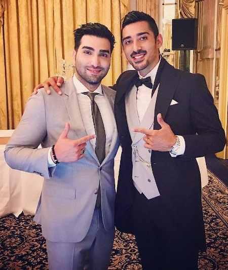 ابی و حسین تهی در مراسم عروسی رضا قوچان نژاد (4)