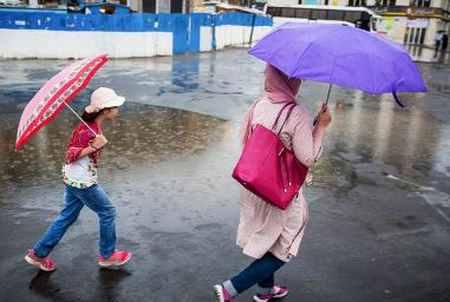 بارش باران تابستانی در تهران (1)