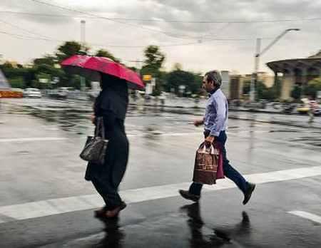 بارش باران تابستانی در تهران (5)