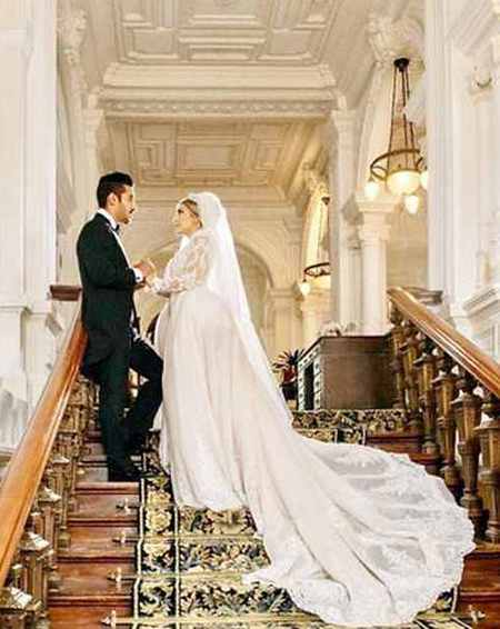عکس عروسی رضا قوچان نژاد و سروین بیات (2)