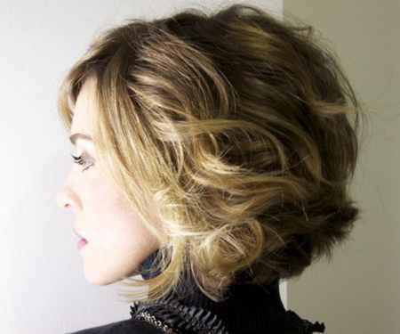 مدل مو کوتاه موج دار دخترانه (14)