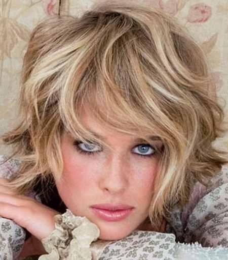 مدل مو کوتاه موج دار دخترانه (16)