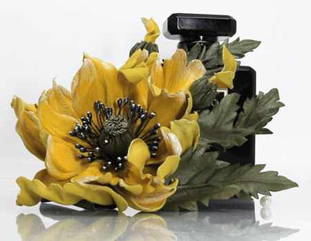 مدل گل های چرمی تزئینی (2)