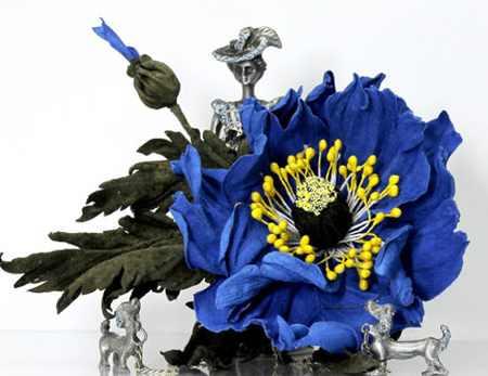 مدل گل های چرمی تزئینی (3)