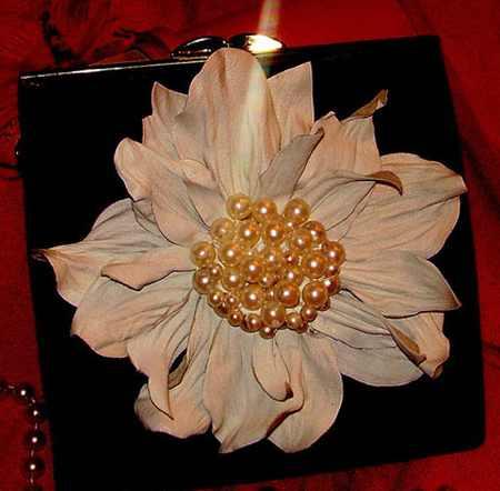 مدل گل های چرمی تزئینی (4)