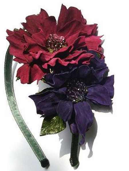 مدل گل های چرمی تزئینی (5)