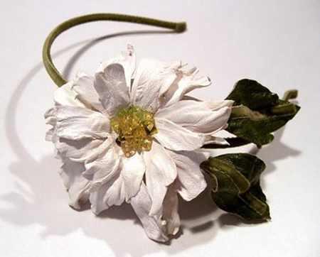 مدل گل های چرمی تزئینی (6)