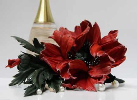 مدل گل های چرمی تزئینی (7)