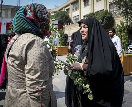 مراسم روز عفاف و حجاب در بازار تهران (3)