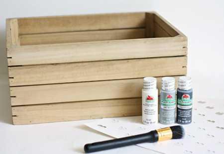 آموزش تزیین جعبه چوبی با قلب (2)