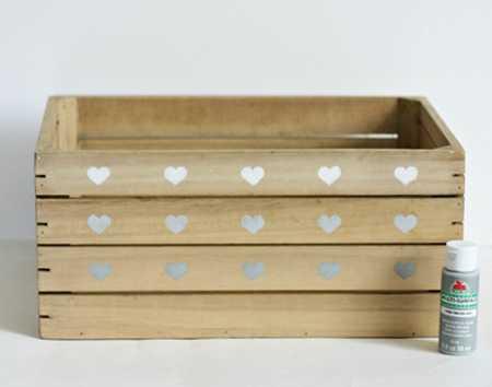 آموزش تزیین جعبه چوبی با قلب (6)