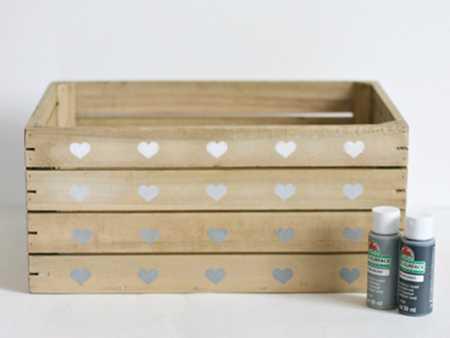 آموزش تزیین جعبه چوبی با قلب (7)