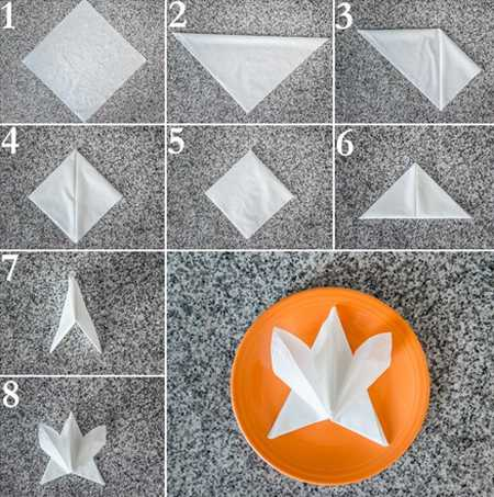 آموزش تزیین دستمال سفره (5)