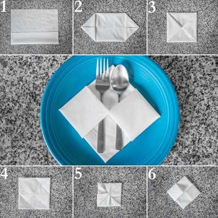 آموزش تزیین دستمال سفره (6)