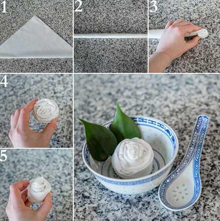 آموزش تزیین دستمال سفره (7)