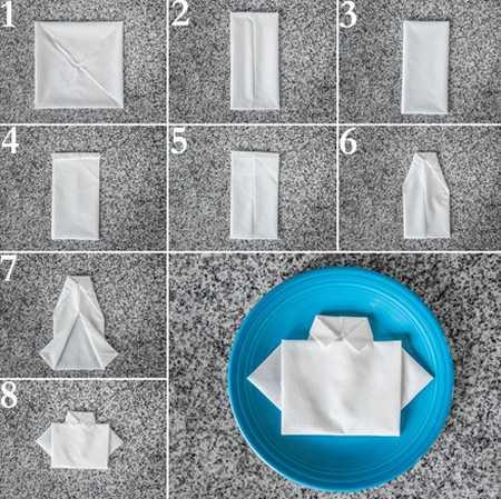 آموزش تزیین دستمال سفره (8)