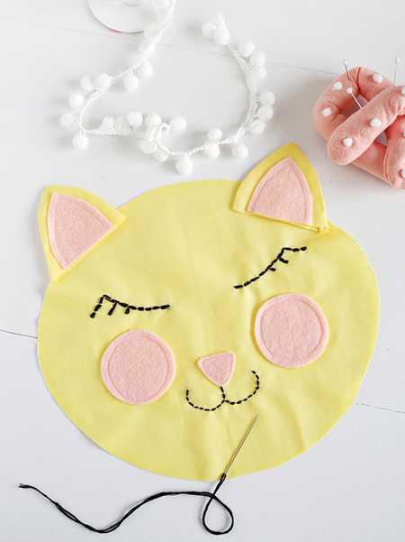 آموزش دوخت کوسن به شکل گربه (5)