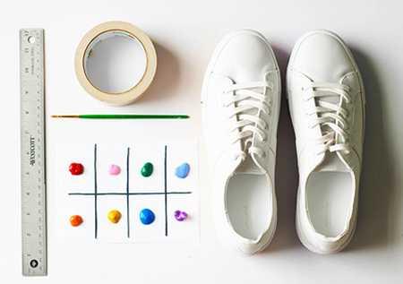 آموزش رنگ آمیزی و تزیین کفش اسپرت (2)