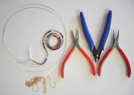 آموزش ساخت گردنبند کریستالی دخترانه (2)