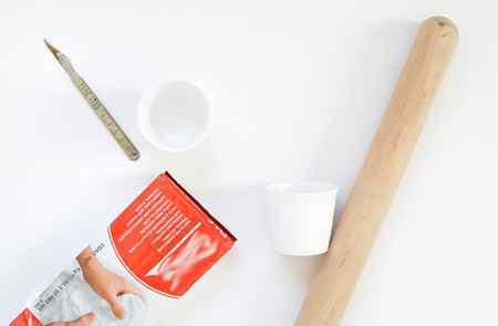 آموزش ساخت گلدان تزیینی با خمیر (2)