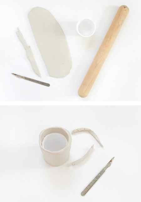 آموزش ساخت گلدان تزیینی با خمیر (3)