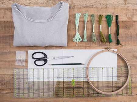 آموزش گلدوزی لباس بافتنی با نخ دمسه (2)