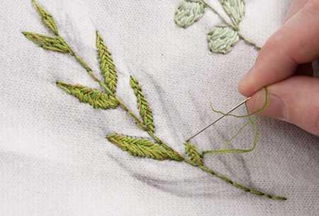 آموزش گلدوزی لباس بافتنی با نخ دمسه (9)