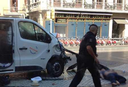 حمله تروریستی بارسلون توسط داعش