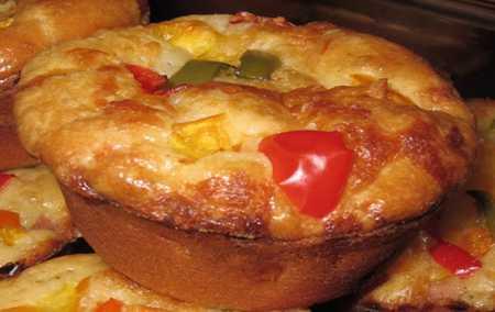 طرز تهیه کاپ کیک پیتزا