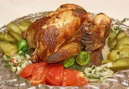 عکس های تزیین مرغ شکم پر (4)