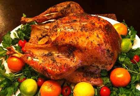 عکس های تزیین مرغ شکم پر (8)