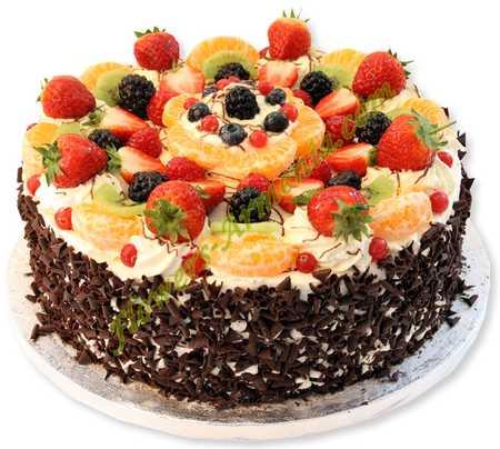 عکس های تزیین کیک با میوه (10)
