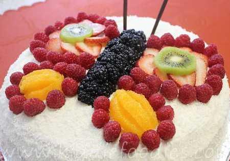 عکس های تزیین کیک با میوه (13)