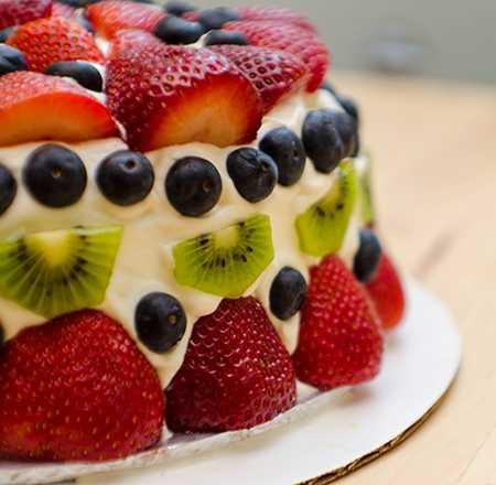 عکس های تزیین کیک با میوه (14)
