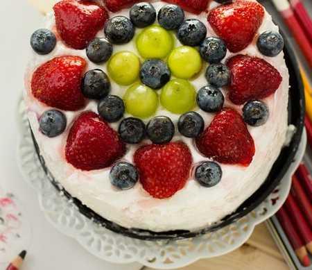 عکس های تزیین کیک با میوه (18)
