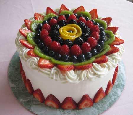 عکس های تزیین کیک با میوه (26)