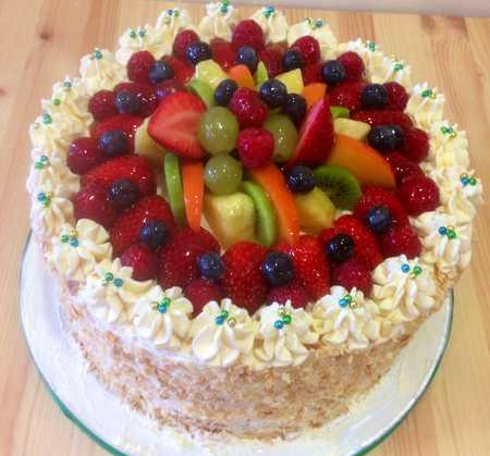 عکس های تزیین کیک با میوه (29)