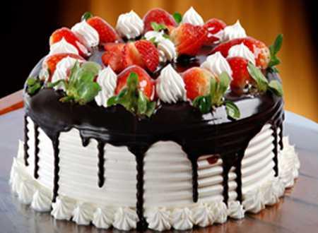 عکس های تزیین کیک با میوه (3)
