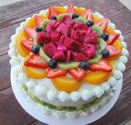 عکس های تزیین کیک با میوه (31)