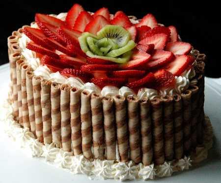 عکس های تزیین کیک با میوه (33)