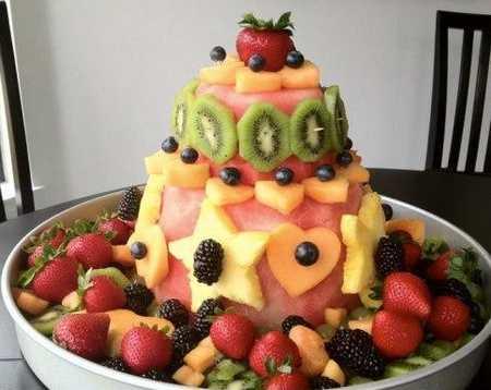 عکس های تزیین کیک با میوه (7)