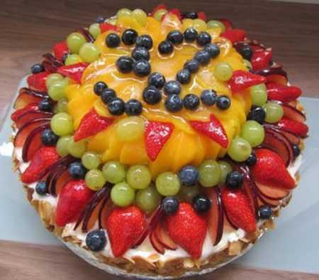 عکس های تزیین کیک با میوه (9)