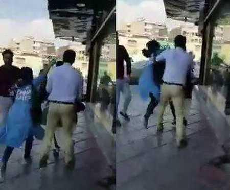 ماجرای درگیری یک زن با شوهرش در خیابان