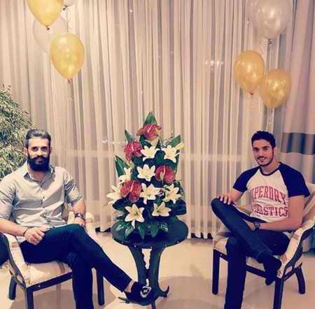 بیوگرافی فرهاد سال افزون والیبالیست ایران و همسرش (4)