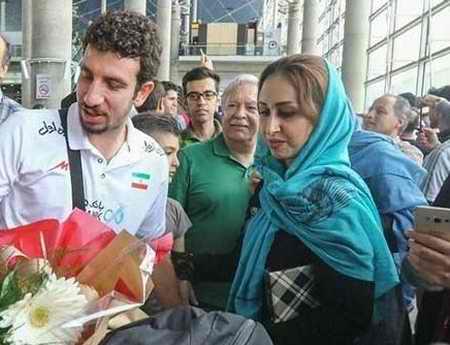 بیوگرافی مهدی مرندی والیبالیست ایران و همسرش (11)