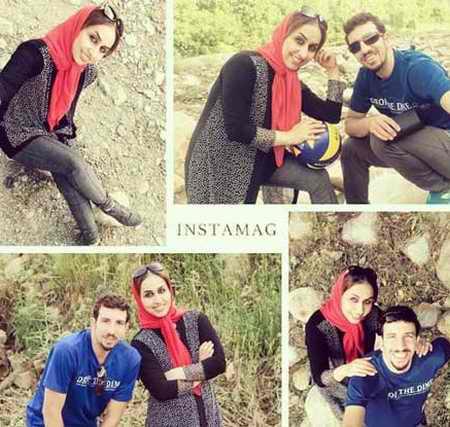 بیوگرافی مهدی مرندی والیبالیست ایران و همسرش (2)