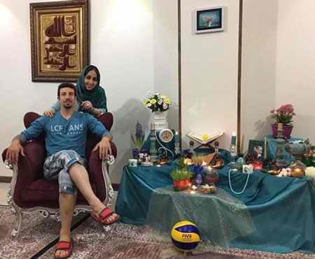 بیوگرافی مهدی مرندی والیبالیست ایران و همسرش (5)