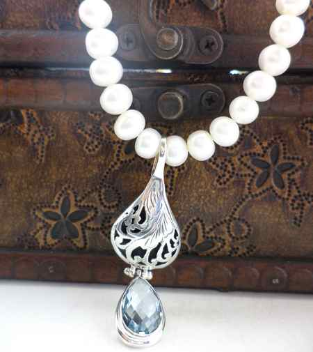 طلا و جواهرات سریال کاخ نشینان + گوشواره و گردنبند آیشن (1)