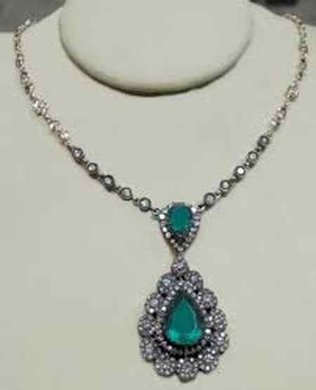 طلا و جواهرات سریال کاخ نشینان + گوشواره و گردنبند آیشن (22)
